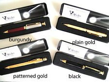 3 FOR $10 - V-Writer LED Light Pens - Corporate Gifts - Black, Gold, Burgundy