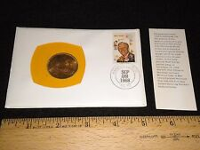 99 Company 1968 Walt Disney 6 cent 1st Day cover Counterstamped 1966 Irish Penny