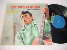 PROMO Gene Vincent Rocks and the Blue Caps Roll 1958 Mono LP VG++