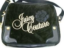 "JUICY COUTURE USED BROWN VELOUR/PVC CROSSBODY STRAP LAPTOP 15"" BAG/SLEEVE/CASE"
