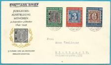 Bund aus 1949 FDC mit MiNr.113-115 - 100 Jahre deutsche Briefmarken!