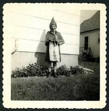 REPRINT of Vtg 1920's - 30's B&W Halloween Photo - Girl in Gnome Costume & Mask