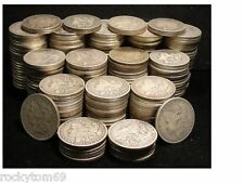 Morgan Silver Dollar Cull Condition Common Date 90% Silver (20) Coins 1 roll