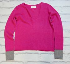 So soft: Zadig & Voltaire Nosfa hot pink & grey cashmere pull new szs £ 350