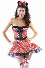 Minnie Mouse Sexy Lingerie Strapless Dress Halloween Costume 8302