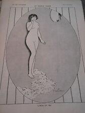 Le Modèle Timide Linge et Nue Girl Nude Print Art Déco 1912