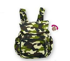 Teddy Bear Clothes fits on Build a Bear & Dolls Army Camouflage Zip Backpack Bag