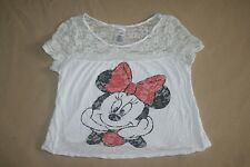 Disney Minnie Mouse Shirt Girls S White