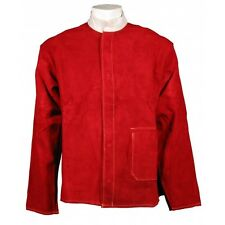 SWP Premium Red Leather Kevlar Stitched Welders Jacket Size Large 42-44""