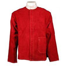 """SWP Premium Red Cuero Chaqueta De Kevlar Cosido Soldadores Tamaño Grande 42-44"""""""