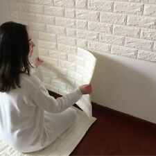 3D Brick Waterproof Wall Sticker Self-adhesive Panels Decal Wallpaper Embossed