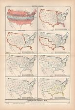 1880 ca ANTIQUE MAP-USA-HISTORICAL  MAPS, 8 IMAGES