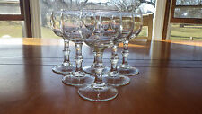 Paul Masson Wine Tasting Glasses Stems 6 4 ounce stems Knobbed Stems by Libbey