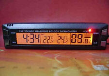Brand New Digital Car Clock Thermometer, In/Out Car Thermometer, Voltage Monitor