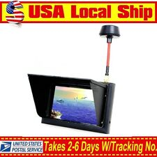 "Black F408 FPV 4.3"" LCD Screen Wireless Diversity Receiver Monitor 32CH 5.8Ghz"