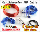 Car Power Audio Subwoofer Amplifier AMP Wiring Kit Cable + 8GA RUSE 1200W Wires