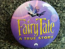 """PARAMOUNT 1997 VINTAGE MOVIE PROMO Pin Button Badge """" FAIRY TALE """" A TRUE STORY"""