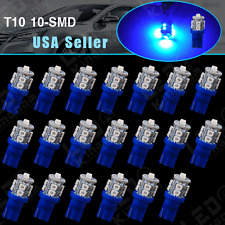 20 X Car Ultra Blue T10 10-SMD LED Side Wedge Light Lamp Bulbs W5W 168 194 2825