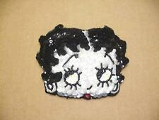 BETTY BOOP COIN PURSE #07 SEQUIN DESIGN BLACK & WHITE