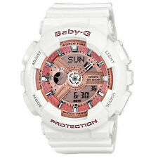 Casio Women's BA110-7A1 Baby-G Pink Analog-Digital Display and White Resin W