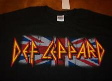 VINTAGE STYLE DEF LEPPARD BRITISH FLAG T-Shirt LARGE NEW w/ TAG