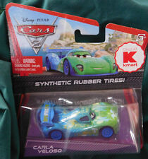 "Disney Cars 2 Diecast Kmart Exclusive ""CARLA VELOSO"" Synthetic Rubber Tires 2010"