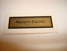 Westtern Electric telephone Decals Antique telephone