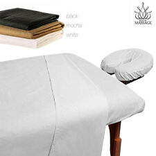 MASSAGE TABLE 100% MICROFIBER FITTED SHEET SET - 3pc SHEETS SET - 3 COLORS-BROWN
