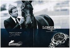 Publicité Advertising 2012 (2 pages) La Montre Longines Saint-Imier Simon Baker