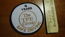 VINTAGE THE TFE GROUP 6 YEARS SAFE DRIVING PETERBILT MACK TRUCK  PATCH   BX P 28