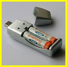 New Rechargeable NiMH Battery AA AAA High Capacity USB Charger CC