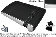 WHITE & BLACK CUSTOM FITS YAMAHA 1000 YZF R1 98-99 REAR LEATHER SEAT COVER