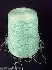 Machine Knitting Cone Spool Yarn Weaving Loom Thread Color Aqua 1 lb 8 oz
