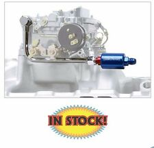 Edelbrock Single-Feed Fuel Line with Blue Anodized Aluminum Filter - Kit 8134