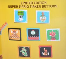 Nintendo Super Mario Maker 30th Anniversary Collector's 7 Pin/Button Set