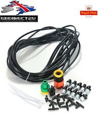 10m/33Ft Micro Garden Misting Cooling System Atomisation Spray Nozzle NEW UK
