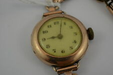 Vintage Ladies Rolex 9ct Gold Watch - AS IS NOT WORKING circa 1915