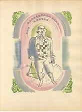 UZELAC 1932 THE JOY OF SPORT  TRISTAN BERNARD LE CYCLISME SUR PISTE PL-19