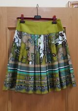 NEW W/O TAG WOMEN SINEQUANONE FLARE SKIRT. COLOR MULTI, SIZE T38, US 8, FRANCE