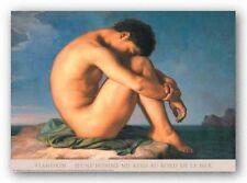 ART PRINT Jeune Homme nu Assis by Hippolyte Flandrin