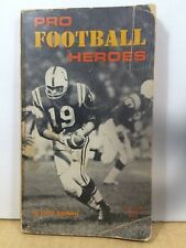 Pro Football Heroes by Steve Gelman 1968 Scholastic Book Services
