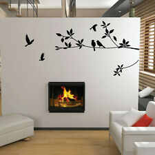 USA Birds&Black Tree Vines Mural Wall Sticker Removable Vinyl Decal Home Decor