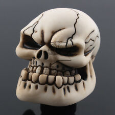 Universal Manual Car Truck Gear Shift Knob Shifter Lever Resin Skull White