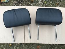 BMW E46 Convertible Rear Headrest Black Leather Pair - 318 320 325 330 M3