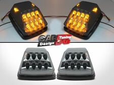 Amber LED Smoke Front Turn Signal Corner Lights For 90-12 Mercedes W463 G-Class