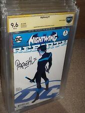 Nightwing #1 Rebirth Variant CBCS SS 9.6 SIgned Yanick Paquette 1st Print CGC