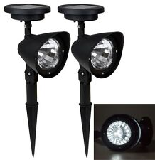 2x Solar Spot Light Outdoor Garden Lawn Landscape LED Spotlight Path Lamp 4