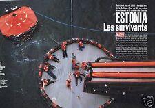 Coupure de presse Clipping 1994 Naufrage de l'Estonia les survivants (10 pages)