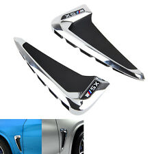 For BMW X5 F15 2014 -2016 ABS Chrome Side Wing Air Flow Fender Intake Vent Cover