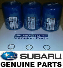 OEM Factory Subaru Engine Oil Filter & Crush Gasket (3 Pack) - 15208AA15A